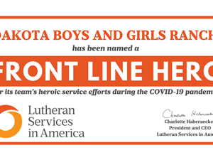 Lutheran Services in America Presents Front Line Heroes Award to Dakota Boys and Girls Ranch